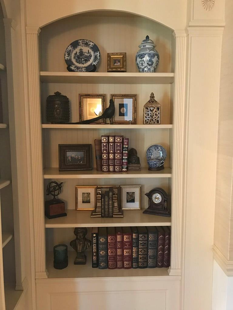 Built in Book cases in Living Room